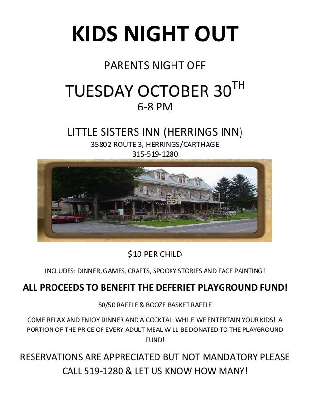 KIDS NIGHT OUT                       PARENTS NIGHT OFF                                                              TH    ...