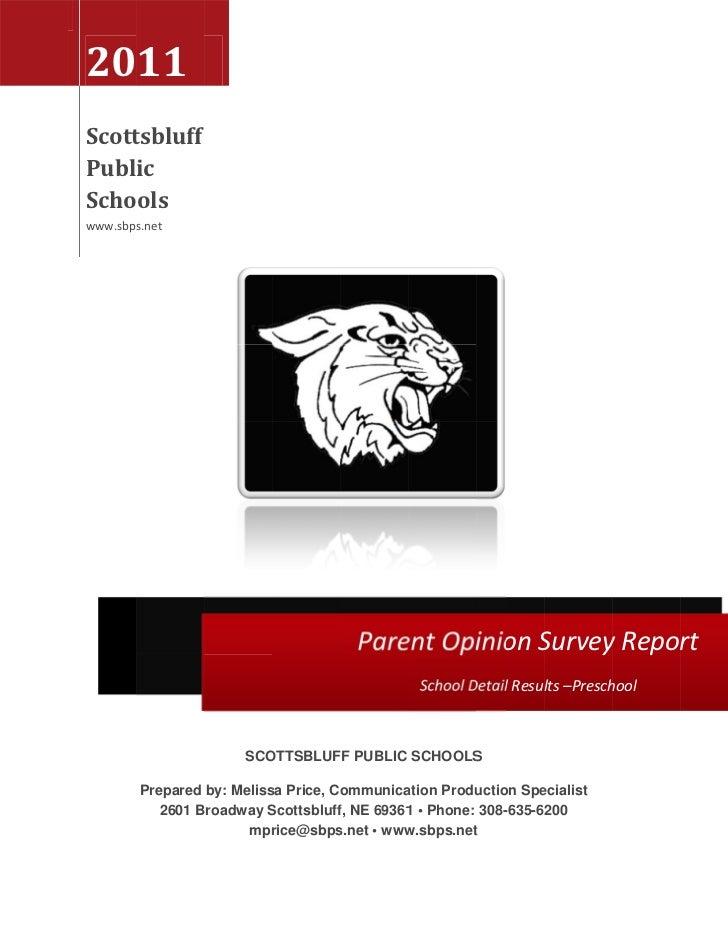 Parent survey Preschool