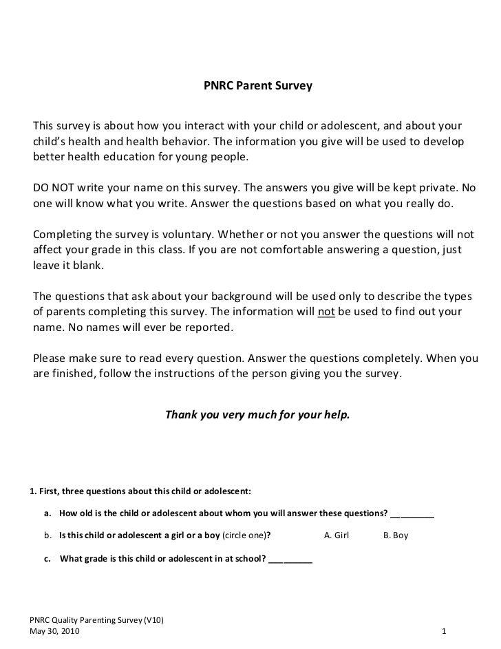 Parent survey v10