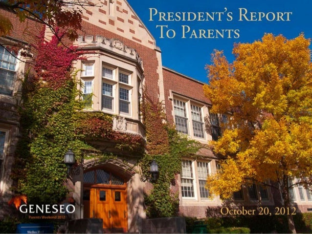 President's Report to Parents