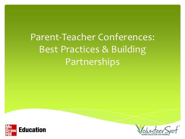 Parent teacher conferences & partnerships