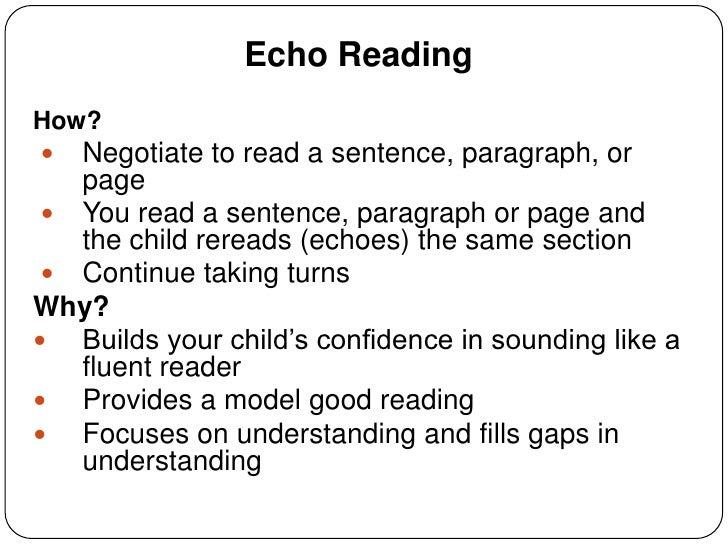 summarizing  u0026 echo reading