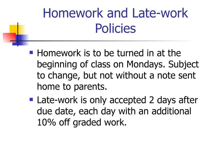 Homework Notes