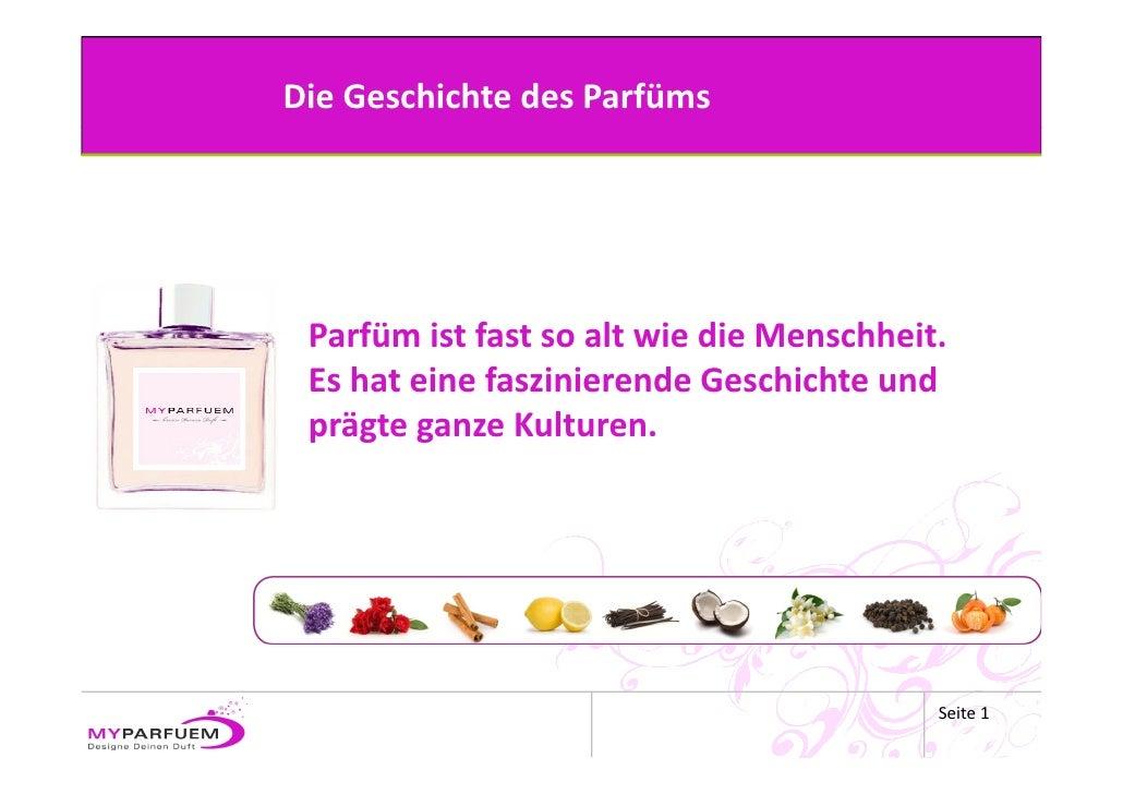 Die Geschichte des Parfüms
