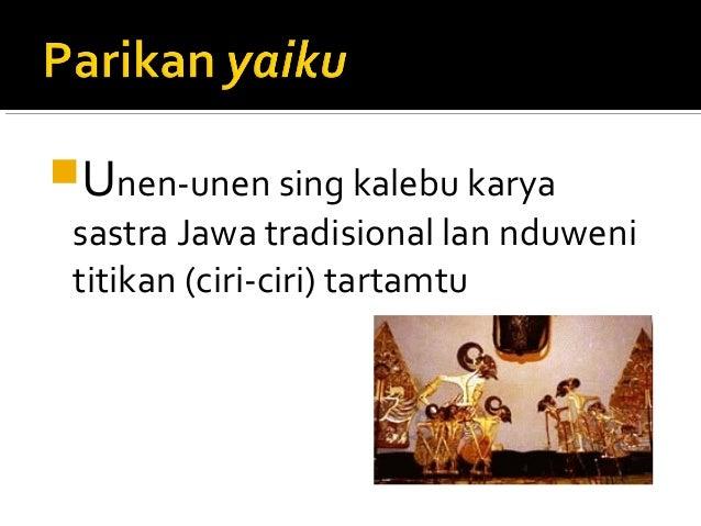 Contoh Parikan Jawa