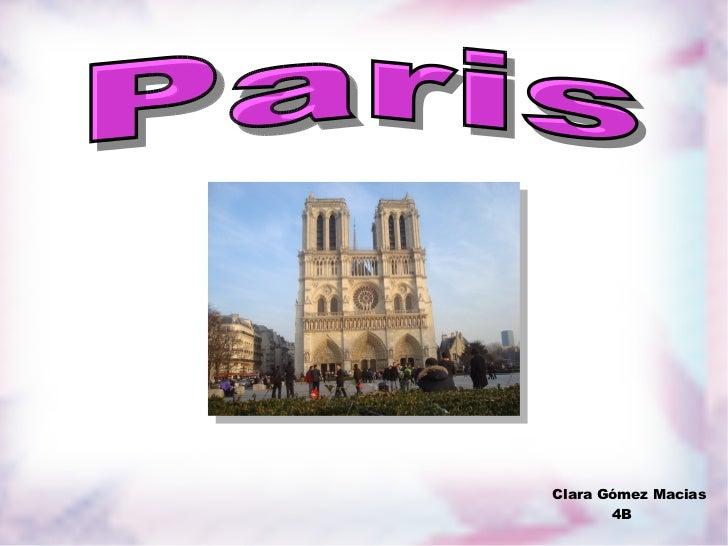 Clara Gómez Macias 4B Paris