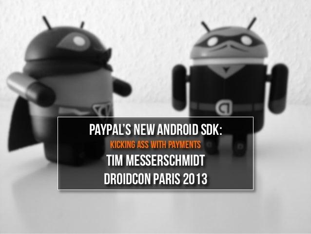 Droidcon Paris: The new Android SDK