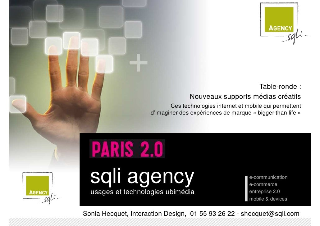 Paris2.0 Interfaces Innovation Sqliagency Sept2009