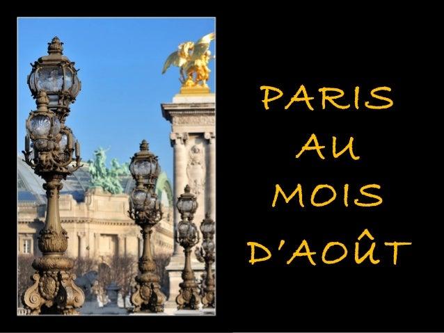 PARIS  AU MOISD'AO û T