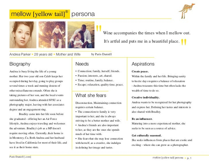 "mellow [yellow tail]® persona                                                                           ""                 ..."