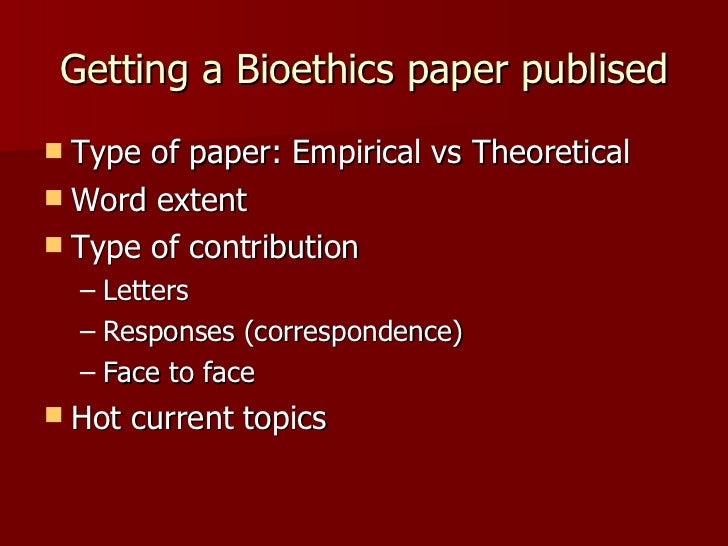 Bioethics essay