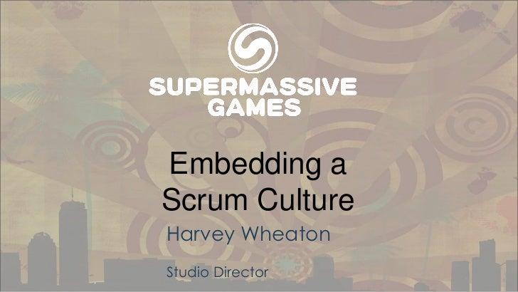 Embedding a Scrum culture avec Harvey Wheaton, Scrum Alliance