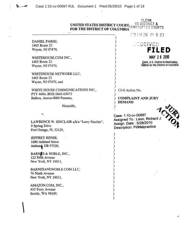 Case 1:10-cv-00897-RJL Document 1 Filed 05/28/10 Page 1 of 18