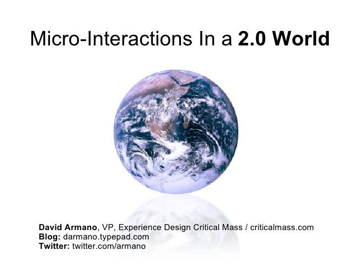 Micro-Interactions, Marketing 2.0 / Paris