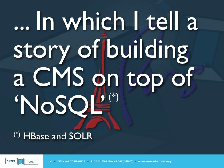 Building a CMS on top of NoSQL (for ParisJUG)