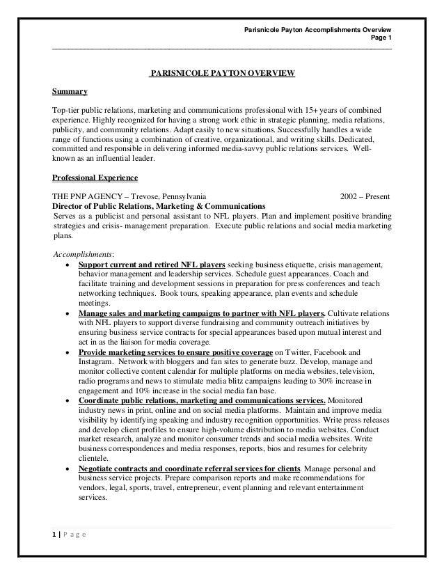 Parisnicole payton Overview
