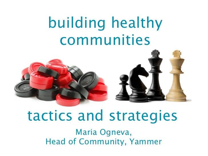 Effective Community Management
