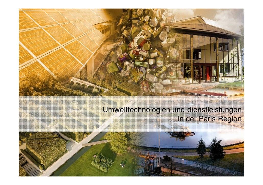Umwelttechnologien und-dienstleistungen                     in der Paris Region
