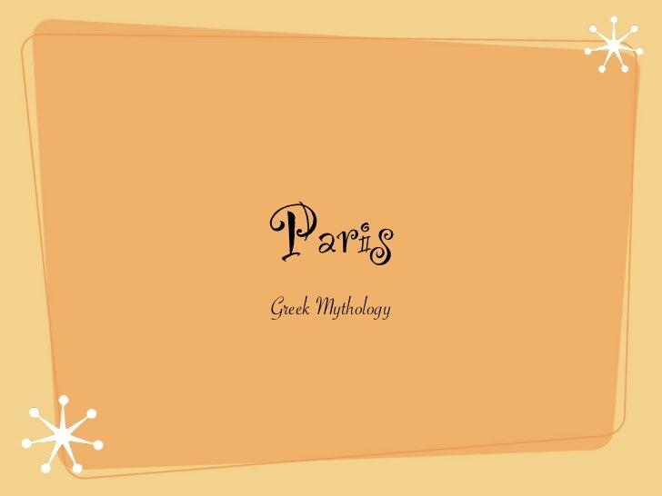 Paris the greek god