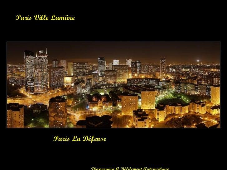 Paris La Défense Paris Ville Lumière Diaporama A Défilement Automatique