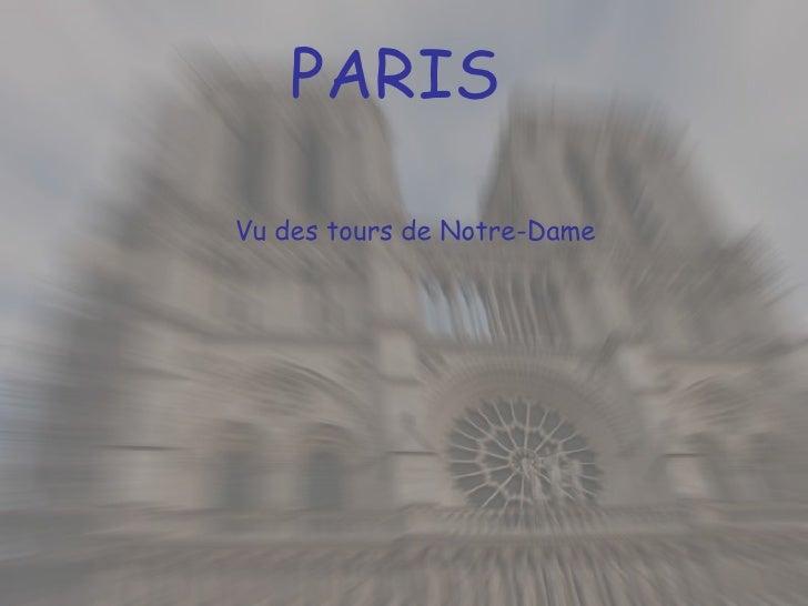 PARIS Vu des tours de Notre-Dame