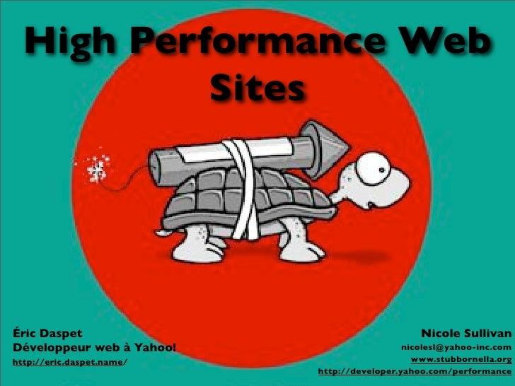 Pourquoi la performance?