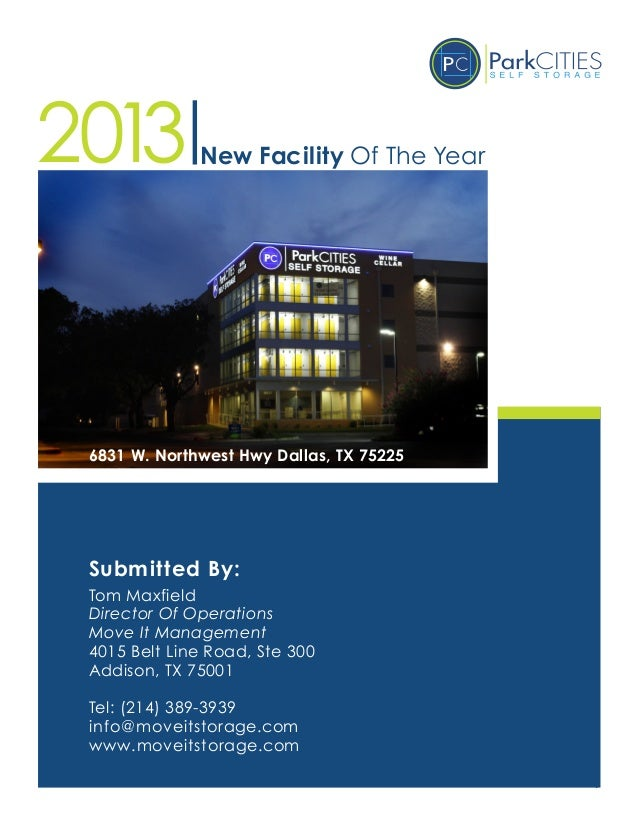 Park Cities Self Storage - New Facility of the Year Nomination