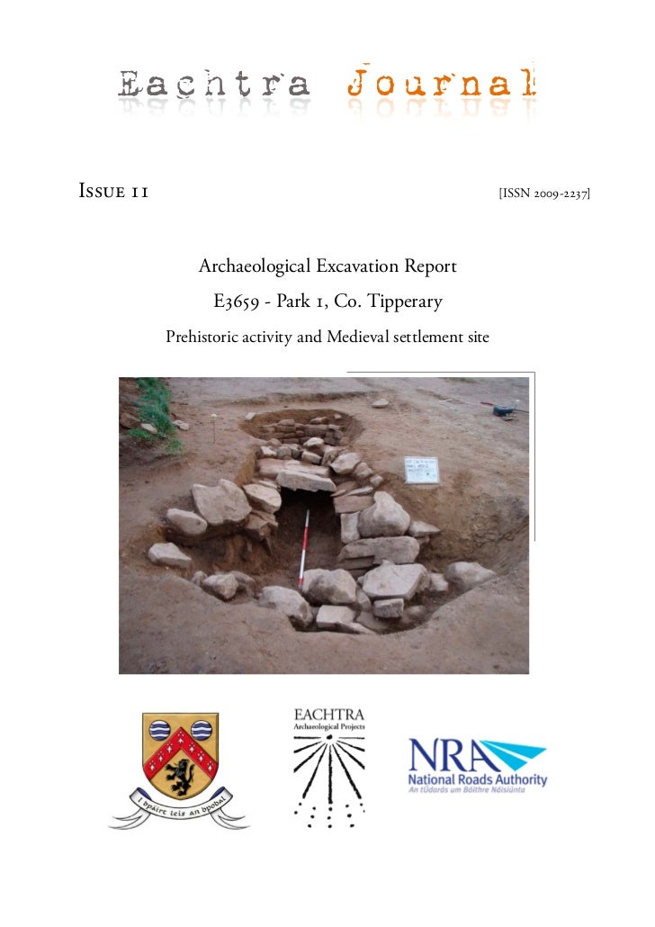 Archaeological Report - Park 1, Co. Tipperary (Ireland)