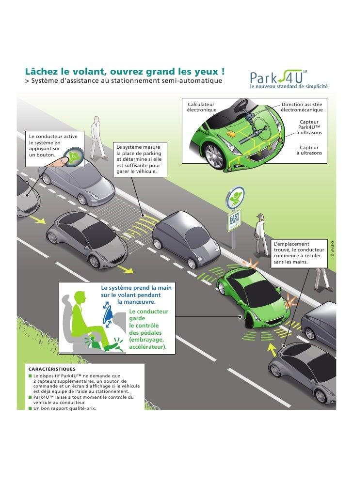 Lâchez le volant, ouvrez grand les yeux ! > Système d'assistance au stationnement semi-automatique                        ...