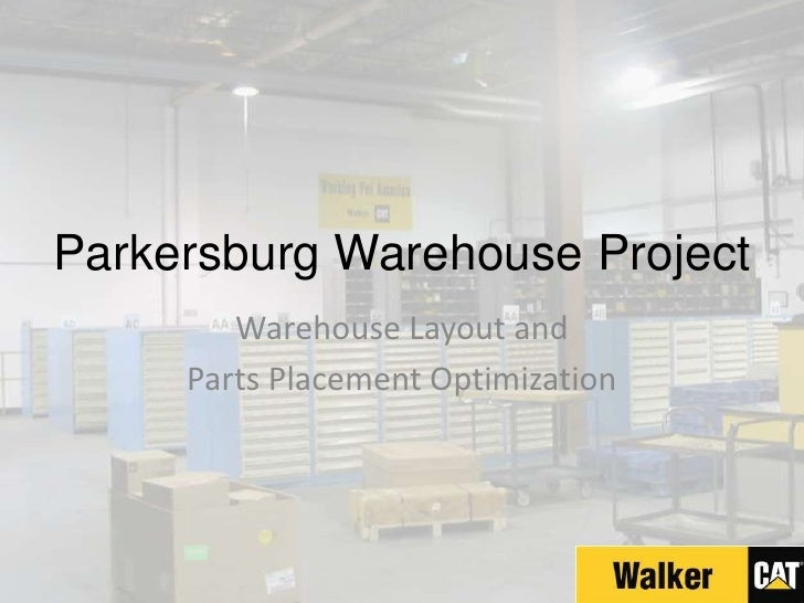Parkersburg Warehouse Project<br />Warehouse Layout and <br />Parts Placement Optimization<br />
