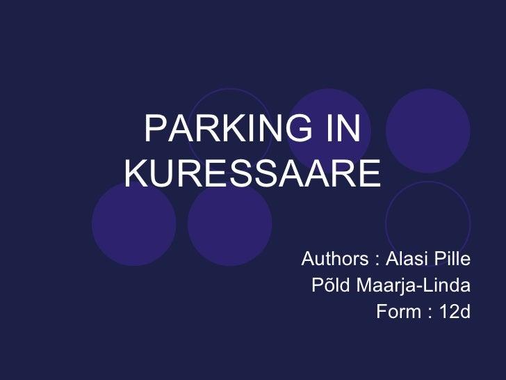 Parking in Kuressaare