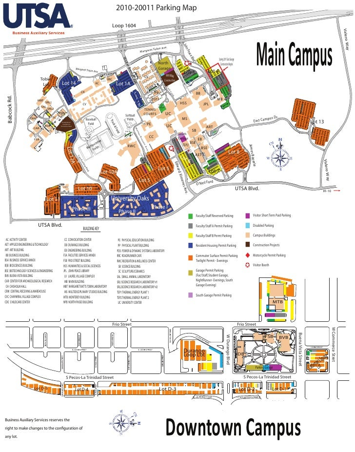 2010-20011 Parking Map                                                                                                    ...