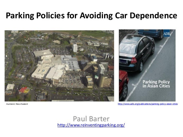 Parking policies for avoiding car dependence (presented at Ecomobility 2 sept 2013)