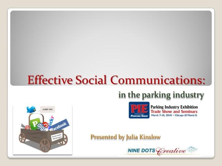 Parking today PIE webinar presentation 3 03-10