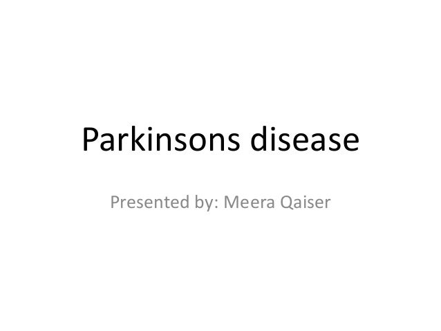 PTM responsible for Parkinsons disease ppt by meera qaiser