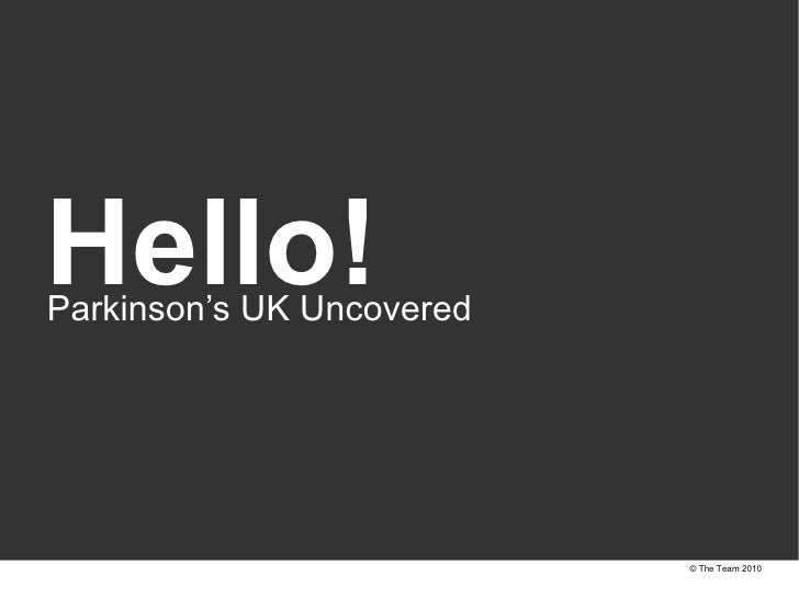 Parkinson's UK uncovered