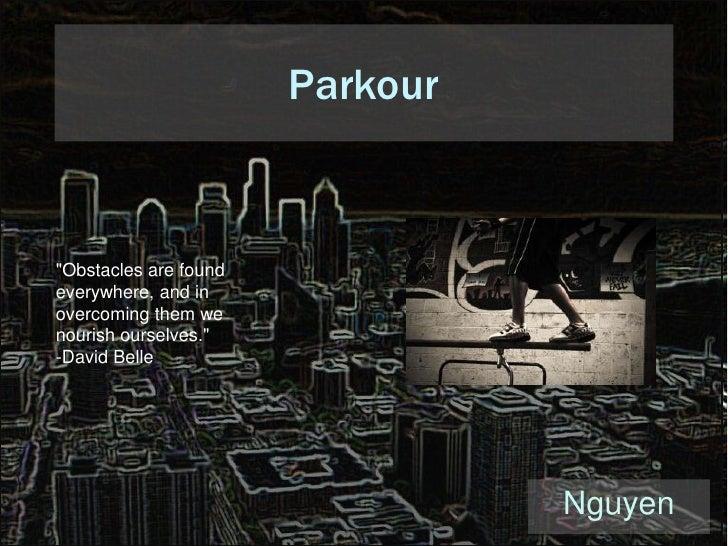 Parkour Presentation