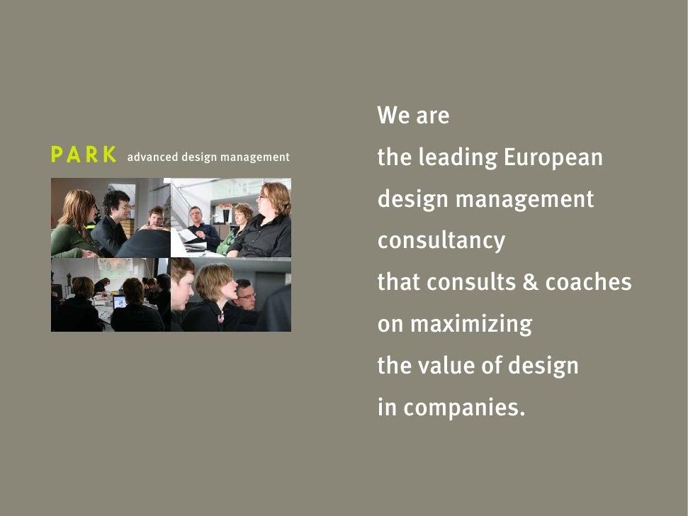 We are advanced design management   the leading European                              design management                   ...