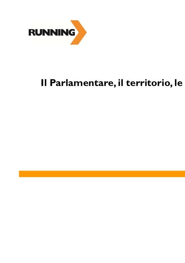 Il Parlamentare, il territorio, le aziende