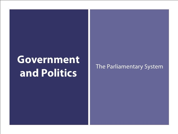 Government     The Parliamentary System and Politics