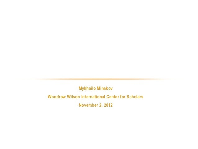 ASSESSINGPARLIAMENTARY ELECTIONS IN UKRAINE               2012                    Mykhailo Minakov     Woodrow Wilson Inte...
