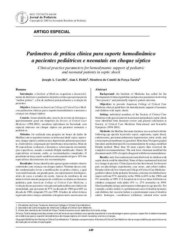 Jornal de Pediatria - Vol. 78, Nº6, 2002 449 449 0021-7557/02/78-06/449 Jornal de Pediatria Copyright © 2002 by Sociedade ...