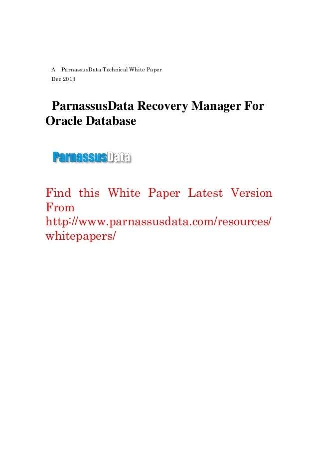 Parnassus data技术白皮书v0.1