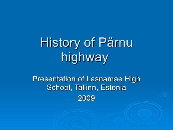 Parnu Highway