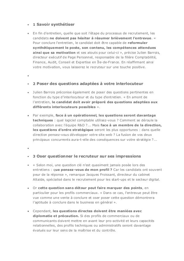 Parole de recruteurs - Entretien cabinet de recrutement questions ...