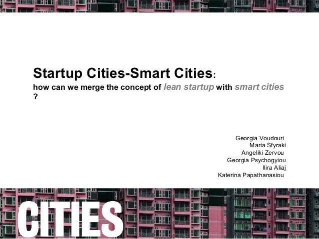 Startup Cities-Smart Cities