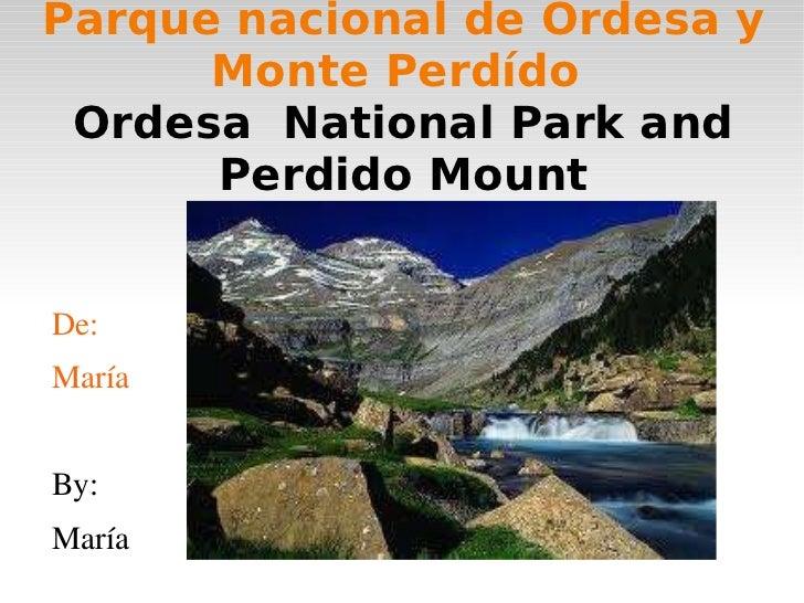 Parque nacional de ordesa y monte perdído  1