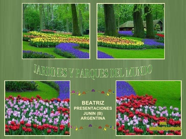 Parques Y Jardines Del Mundo