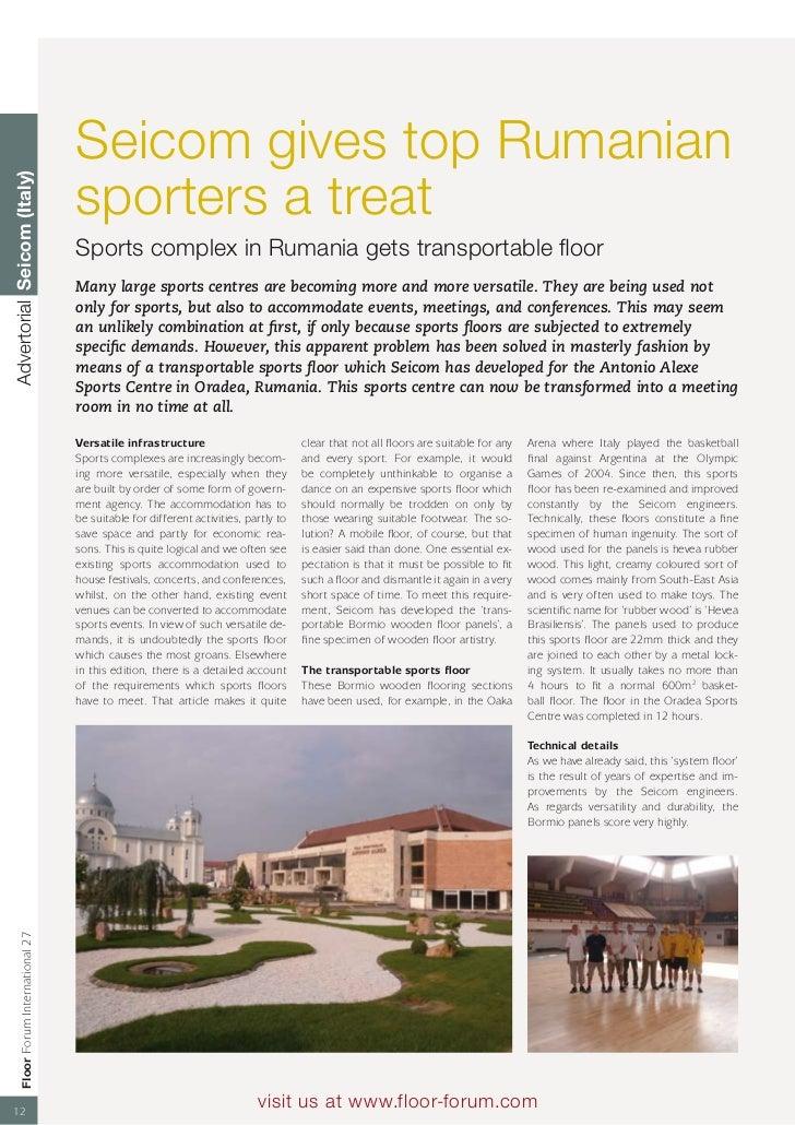 Seicom gives top Rumanian                                      sporters a treatAdvertorial Seicom (Italy)                 ...