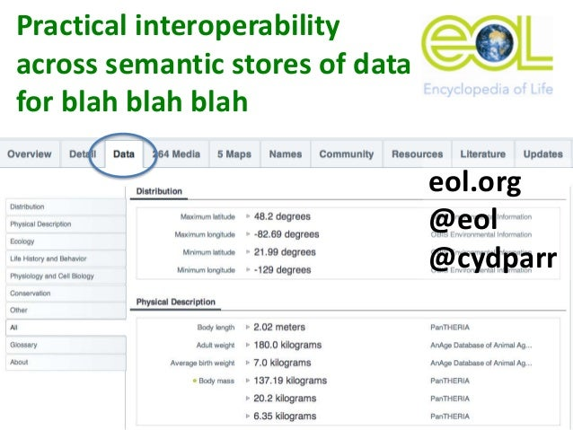 Practical interoperability across semantic stores of data for ecological, taxonomic, phylogenetic, and metagenomics research